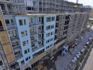 10 West Edge Construction, load bearing walls, load bearing structure